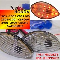 2005 05 HONDA CBR 600 RR Clear LED Flush Mount Turn Signals 1 pair TS01