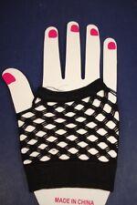 80s Retro Punk BLACK Fish Net Wrist Length FISHNET FINGERLESS GLOVES goth