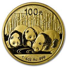 2013 China 1/4 oz Gold Panda BU (Sealed) - SKU #72453
