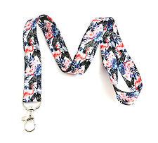 Zebra & Flamingo Safari Print Lanyard Key Chain Id Badge Holder