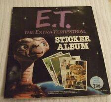 PANINI - E.T THE EXTRA-TERRESTRIAL ** STICKER ALBUM ** YEAR:1982 - HALF FILLED