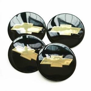 "For Chevrolet Wheel Center Hub Cap 4x 2.2"" 56mm Black Emblem Badge Decal Sticker"