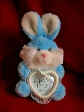 "Vintage Bunny Rabbit  w/ Picture Frame plush 9"" - 1989"