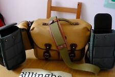 Billingham Hadley One Camera Bag Khaki FibreNyte Chocolate Leather extra inserts