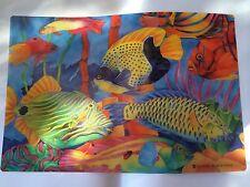 12pcs Plastic Tropical Fish Placemats 2 Styles