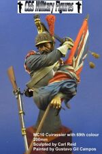 CGS French Cuirassier with Captured Flag 1815 1/9th Bust Unpainted kit CARL REID