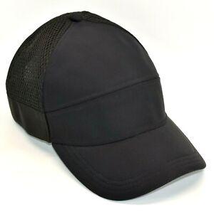 Lululemon Dash And Splash Adjustable Snapback Mesh Hat Ball Running Cap Black