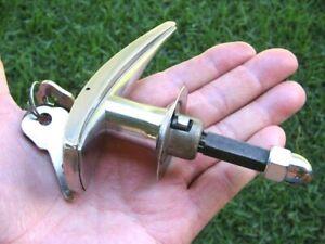 ORIGINAL 1937 FORD V8 TRUNK or RUMBLE DECK LID HANDLE w/keys & NUT