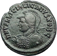 LICINIUS II Jr 321AD Heraclea Authentic Ancient Roman Coin JUPITER EAGLE i70740