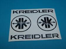 Kreidler Mofa Schriftzug + Logo  MF Aufkleber Sticker Schriftzug Dekor Schwarz