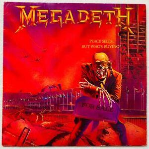 MEGADETH . peace sells ... LP 1.Press 1986 IMPORT Sodom Metallica Slayer Anthrax