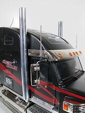 Pair Aluminum L/R Exhaust Straight Pipe R/C 1/14 Tamiya King Grand Knight Hauler