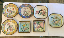 New listing Vintage lot of 7 enameled pin dishes from China