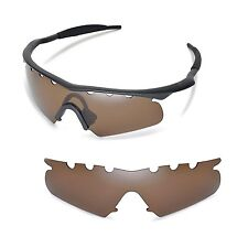 New WL Polarized Brown Vented Replacement Lenses for Oakley M Frame Hybrid
