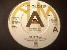 "38 SPECIAL - STONE COLD BELIEVER    7"" VINYL PROMO"