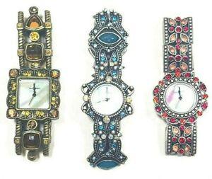 Diamante Watch Ladies Bracelet Present Crystal Wristwatch Elastic Jewellery Gift