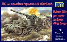 "UM-MT Models 1/72 American M12 155mm GUN MOTOR CARRIAGE ""King Kong"""