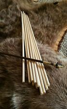 "*12 Wood  Cedar Dowel Arrow Shafts 5/16 x 26.5"" Primitive Archery Craft  Dowel"