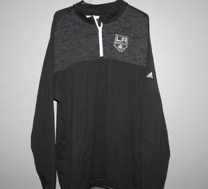 NHL Adidas Los Angeles Kings 1/4 Zip Hockey Jacket New Mens Sizes MSRP $100