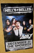 Hells Belles Original Concert Poster with Black Sabbitch