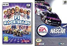 nascar revolution & f1 race stars  new&sealed