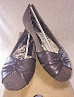 NIB BORN Women 7.5 Lilly Comfort Ballet Flat Brown Suede Plaid Leather Shoe $90