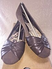 BORN Women 7.5 Lilly Comfort Ballet Flat Brown Suede Plaid Leather Shoe NIB $90