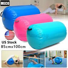 "US 39x33"" Inflatable Gymnastics GYM Air Barrel Mat Track Yoga Roller Cylinder"