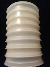 Vintage TUPPERWARE Hamburger Stacking Storage Containers- Set of 8 w/ 1 seal