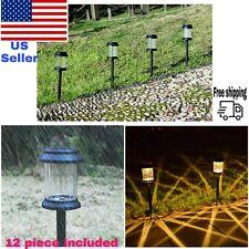 New listing 12 piece Solar Garden Led Light Waterproof Landscape Pathway Led Lamp