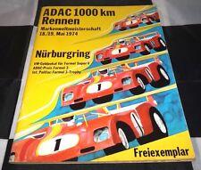 ORIGINAL 1974 NURBURGRING 1000 KM RENNEN PROGRAMME MATRA MS670 ALFA ROMEO T33