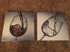 2 Wine Canvas Wall Art Kitchen Decor Contemporary Artwork