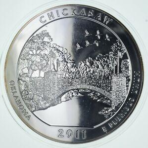 Rare Silver 5 Oz. 2011 Chicasaw ATB Quarter Round .999 Fine Silver *192