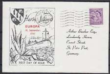 Herm Island FDC 71 - 76, gest. Guernsey 1961, first day cover