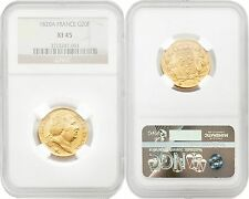 France 1820-A Louis Xviii 20 Francs Gold Ngc Xf45 Sku#4158
