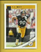 T.J. Watt  2018 Panini Donruss Card # 247  Pittsburgh Steelers Football LB