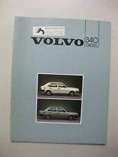 Volvo 340 Diesel brochure Prospekt Dutch text 12 pages 1985