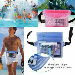Beach Swimming Waterproof Underwater Waist Bag Pouch Dry Case Pack Pocket Wallet