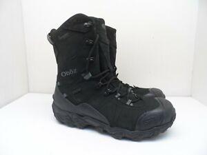 "Oboz Men's 10"" Bridger Insulated Waterproof Hiking Winter Boots Black 10 Wide"