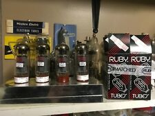 QUAD of Ruby EL34 BSTR Factory Matched Output Tubes TV-7 tested W/FREE Shipping
