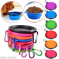 New Collapsible Pet Cat Dog Food Water Feeding Bowl Dish Feeder Foldable