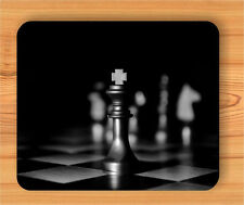 CHESS KING BLACK MOUSE PAD -dnk8Z