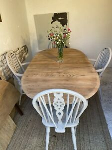 Ercol Vintage 7 Foot Extending  Farmhouse  Dining Table And Chairs  Refurbished