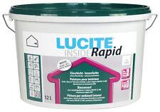 LUCITE® Inside Rapid 12 Liter weiß - Einschicht-Farbe | scheuerbeständig -