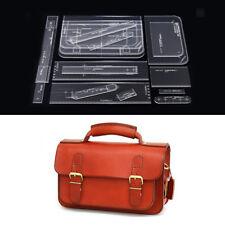 17Pc Diy Shoulder Bag Handbag Pattern Stencil Template Acrylic Leather Craft