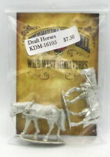 Knuckleduster KDM-16105 Draft Horses (Gunfighter's Ball) Animals in Harness NIB