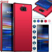 For Sony Xperia 10 Plus XA3 Ultra Luxury Shockproof Case Cover + Tempered Glass