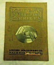 Louden Feed Carrier Farm Machinery Catalog N.A. Stahl Zionsville Pa. Dealer