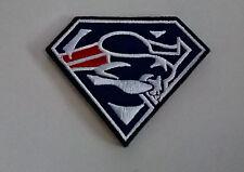 NFL Patch ricamate New England Patriots Superman 8 x 6 cm