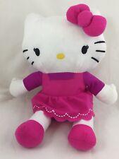 "Northwest Hello Kitty Plush Fushia Pink Dress 11"" Sitting Stuffed Animal Toy"